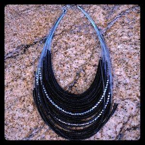 Black/Silver necklace